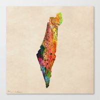 israel Canvas Prints featuring israel by mark ashkenazi
