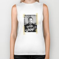 crowley Biker Tanks featuring Vote Crowley! by KanaHyde