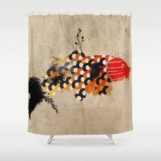 carp_koi_ink Shower Curtain