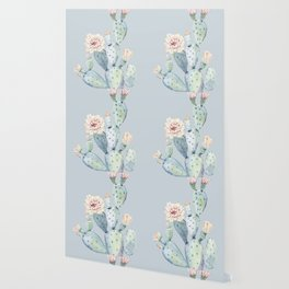 Prettiest Rose Cactus Blue Wallpaper