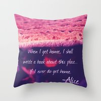 alice wonderland Throw Pillows featuring Wonderland by Josrick