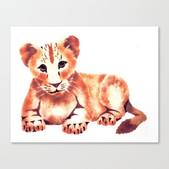Baby Lion Cub Canvas Print