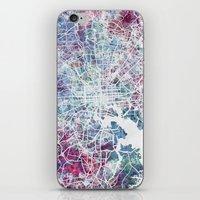 baltimore iPhone & iPod Skins featuring Baltimore by MapMapMaps.Watercolors