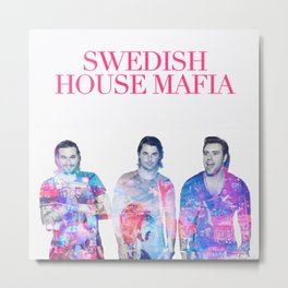 Swedish House Art Mafia Double Exposure Photo Art Metal Print