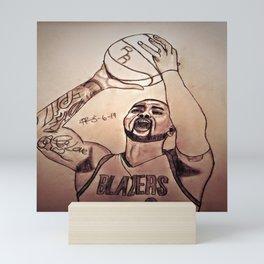 Damien Lillard by Double R Mini Art Print