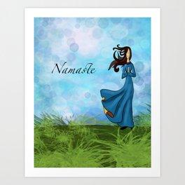 Namaste for Yoga Art Print