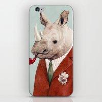 rhino iPhone & iPod Skins featuring Rhino by Animal Crew