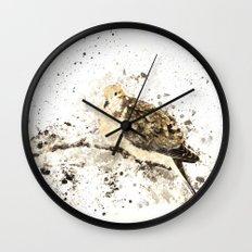 Mourning Dove Splatter Wall Clock