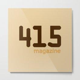 415 Magazine Logo Metal Print