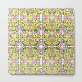 Traditional floral mosaic pattren design Metal Print