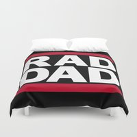 dad Duvet Covers featuring RAD DAD by CreativeAngel