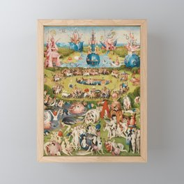 THE GARDEN OF EARTHLY DELIGHT - HEIRONYMUS BOSCH Framed Mini Art Print