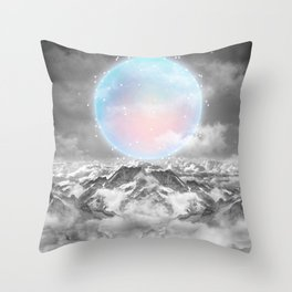 Places Neither Here Nor There (Guardian Moon) Throw Pillow