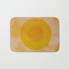 Yellow circle Bath Mat
