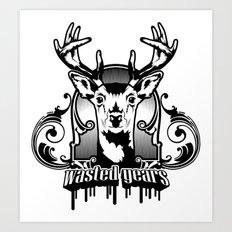 Deer antique vector illustration Art Print