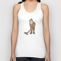 hockey Tank Tops featuring Hockey Yeti by Kip Noschese