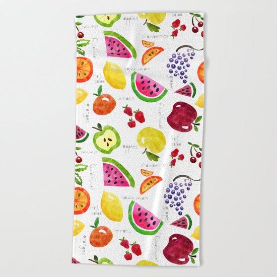 Fruit Salad Yummy Yummy Beach Towel