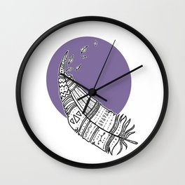 Decorative Tribal Feather Wall Clock