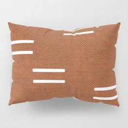 double dash - burnt orange Pillow Sham