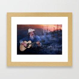 Folk Music In The Hills Framed Art Print