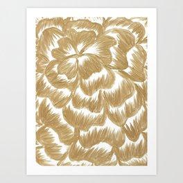 Golden Dahlia Flower Art Print