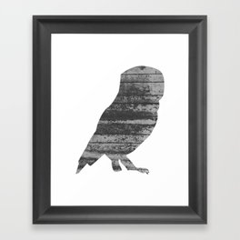 Owl (The Living Things Series) Framed Art Print