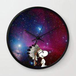 Snoopy nebula Wall Clock