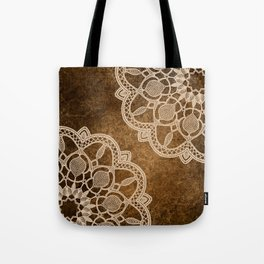 Mandala Creme And Brown Spiritual Zen Bohemian Indian Yoga Mantra Meditation Tote Bag