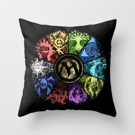 Magic the Gathering - Faded Guild Wheel Throw Pillow
