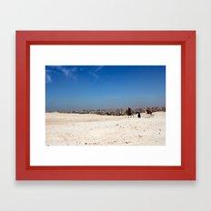 Sand City Sky Framed Art Print