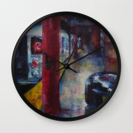 Underneath NYC: Hoyt Street on the 2/3 Line Wall Clock