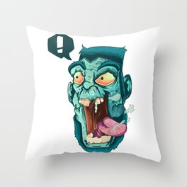 Zombie. Throw Pillow