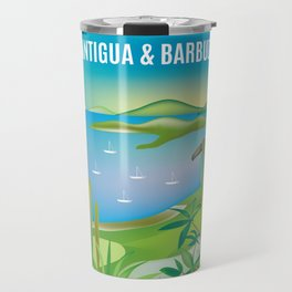 Antigua & Barbuda - Skyline Illustration by Loose Petals Travel Mug
