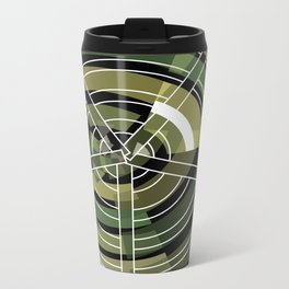 Exploded view camouflage Metal Travel Mug