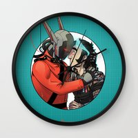 yaoi Wall Clocks featuring Comic Cover by kami dog
