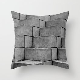 Concrete Thoughts on Concrete Steps Throw Pillow