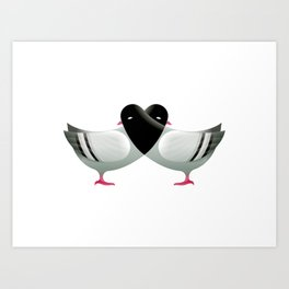 Love the Pigeons Art Print