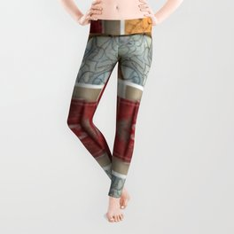 Partial Windows & Brick Tiles (Abstract / Tiles) Leggings