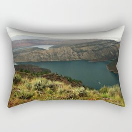 Houseboat On Flaming Gorge Reservoir Rectangular Pillow