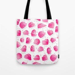 Pink Underbite Monsters Tote Bag