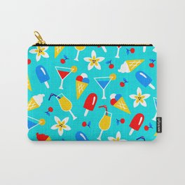 Summer Sweet Treats and Party Drinks Pattern Carry-All Pouch