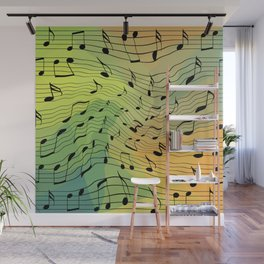 Music notes II Wall Mural