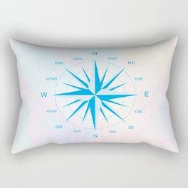 Blue Compass Navigational Instrument Rectangular Pillow