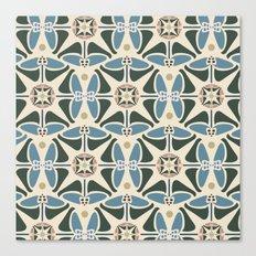 Blue Tulips - Circle Pattern Canvas Print