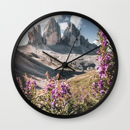Tre Cime di Lavaredo in the Dolomites Wall Clock