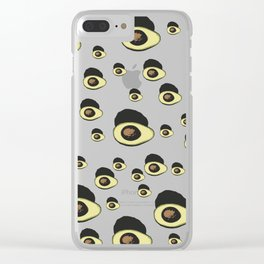 Life Cycle of an Avocado Clear iPhone Case