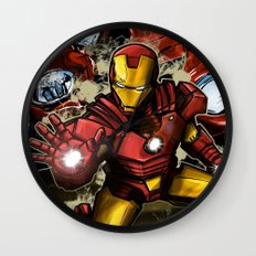 Man of Iron Wall Clock