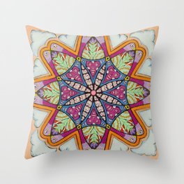 Freedom Mandala - מנדלה חופש Throw Pillow