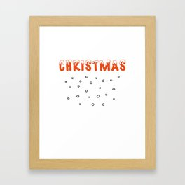 Christmas Snow and Snowballs Framed Art Print