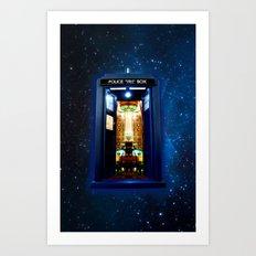 Tardis doctor who bigger on the inside Art Print